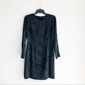 Club Monaco | NWOT Leaf Long Sleeve Silk Dress